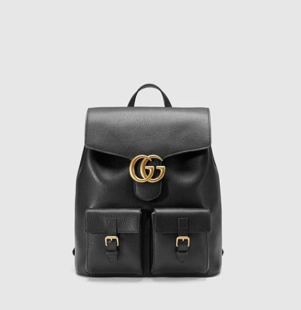 aef0885d05bf Gucci - 〔GGマーモント〕 レザー バックパック 429007CAOFT1000 | Gucci ...