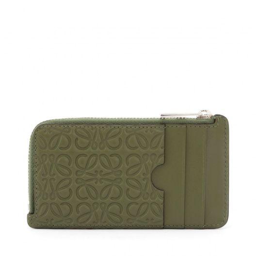 meet 5eac0 8bf44 ロエベ 革小物 - COIN/CARD HOLDER - カーキグリーン | ロエベ ...
