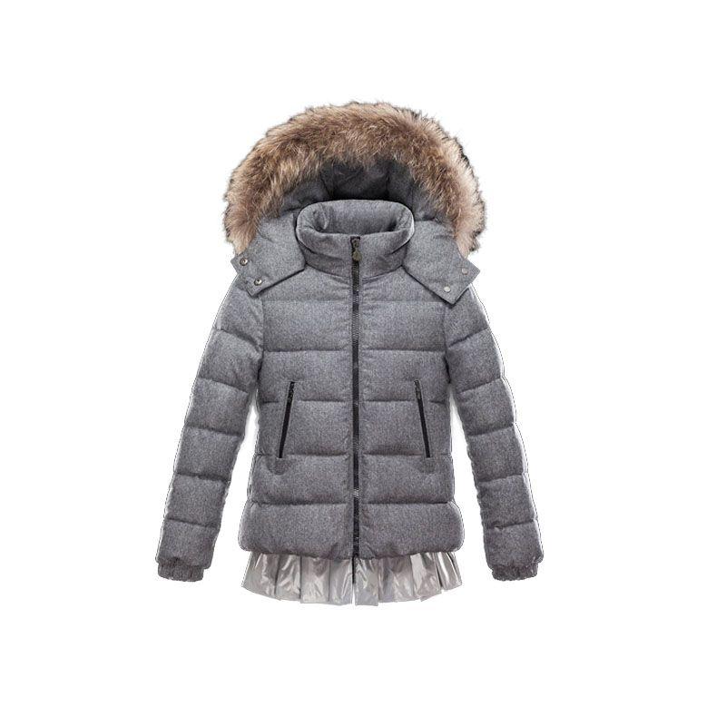 Kids Moncler Grey Enfant Louane Fur-trimmed Hooded Jacket ... 9aedaf1d06e