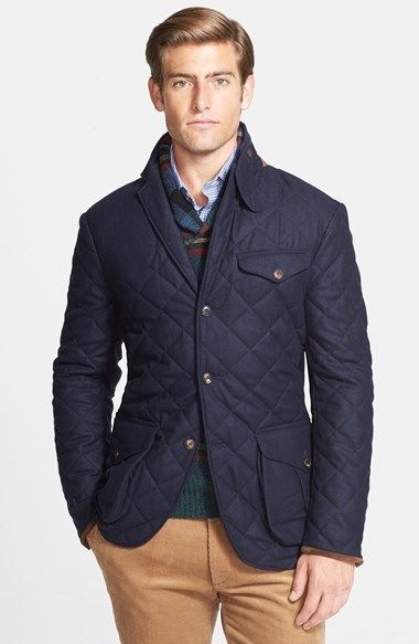 Quilted Wool Blend Three Button Sport Coat | Sport coat, Man shop ... : mens quilted sport coat - Adamdwight.com