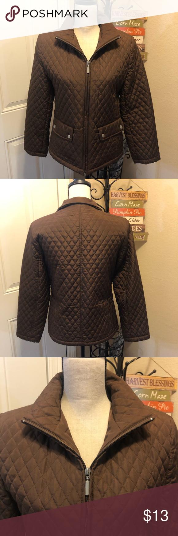 Jane Ashley Petite Medium Brown Puffer Jacket Brown Puffer Jacket Clothes Design Brown Puffer [ 1740 x 580 Pixel ]