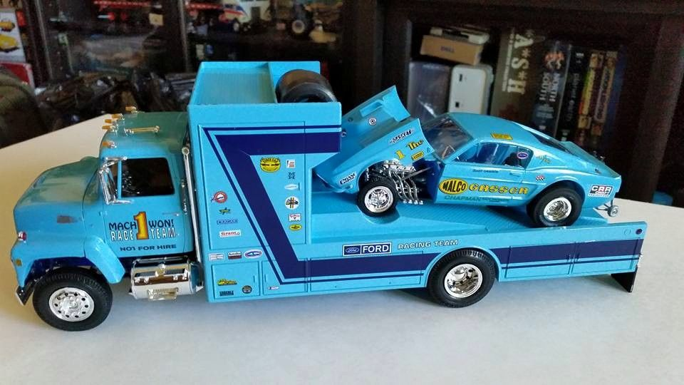 Malco Gasser Mustang and Ford Race Car Hauler | Model Trucks