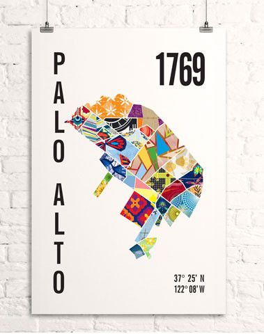 Palo Alto Map Print