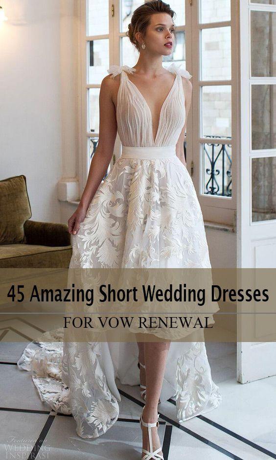 713f8b8bf63 45 Amazing Short Wedding Dress For Vow Renewal