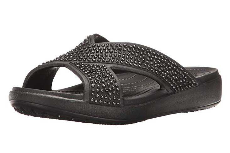 Crocs 205183 LITERIDE SLIDE Mens Slip On Pool Slider Summer Sandals Black//Smoke