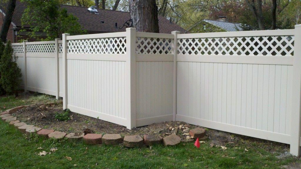 White Lattice Top Privacy Fence Fences Pinterest
