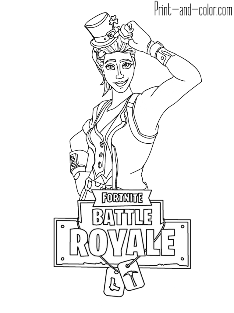 Fortnite Battle Royale Coloring Page Sgt Green Clover