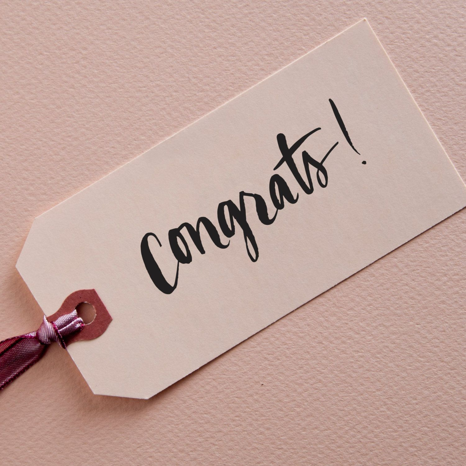 Congrats Brush Lettering Stamp By Kmcalligraphy On Etsy