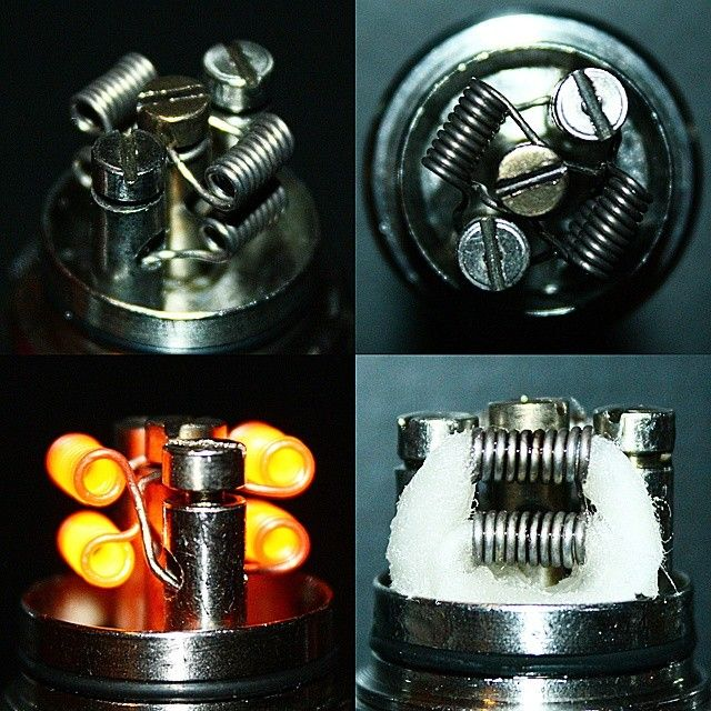 My pièce de résistance! 22 gauge centre post stacked quad coil ...