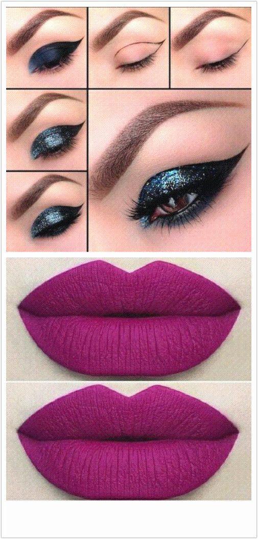 Increíble Maquillaje De Fiesta Para El Vestido Azul Adorno - Ideas ...