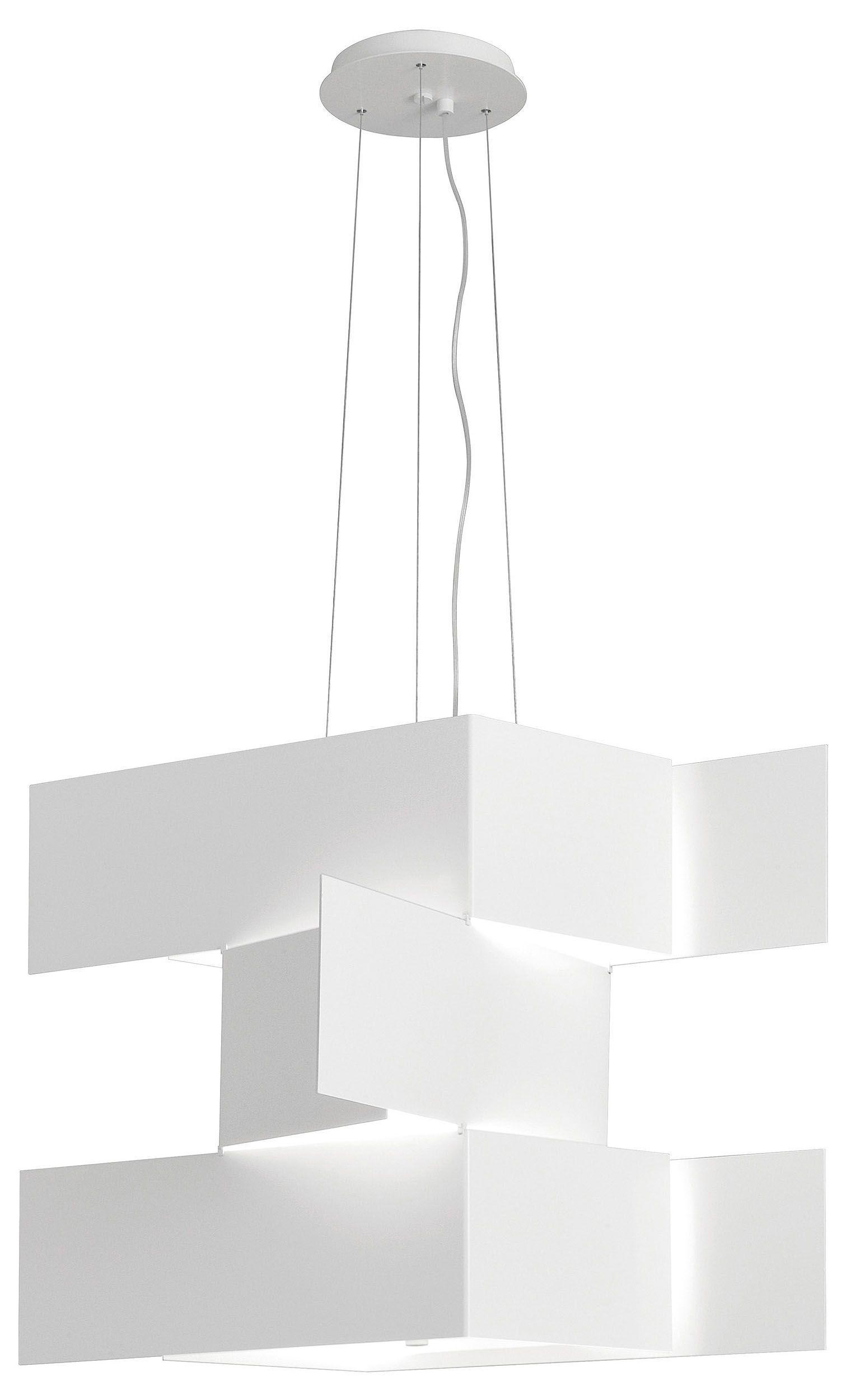 Lámpara Colgante Rectangular De Esquina Redonda