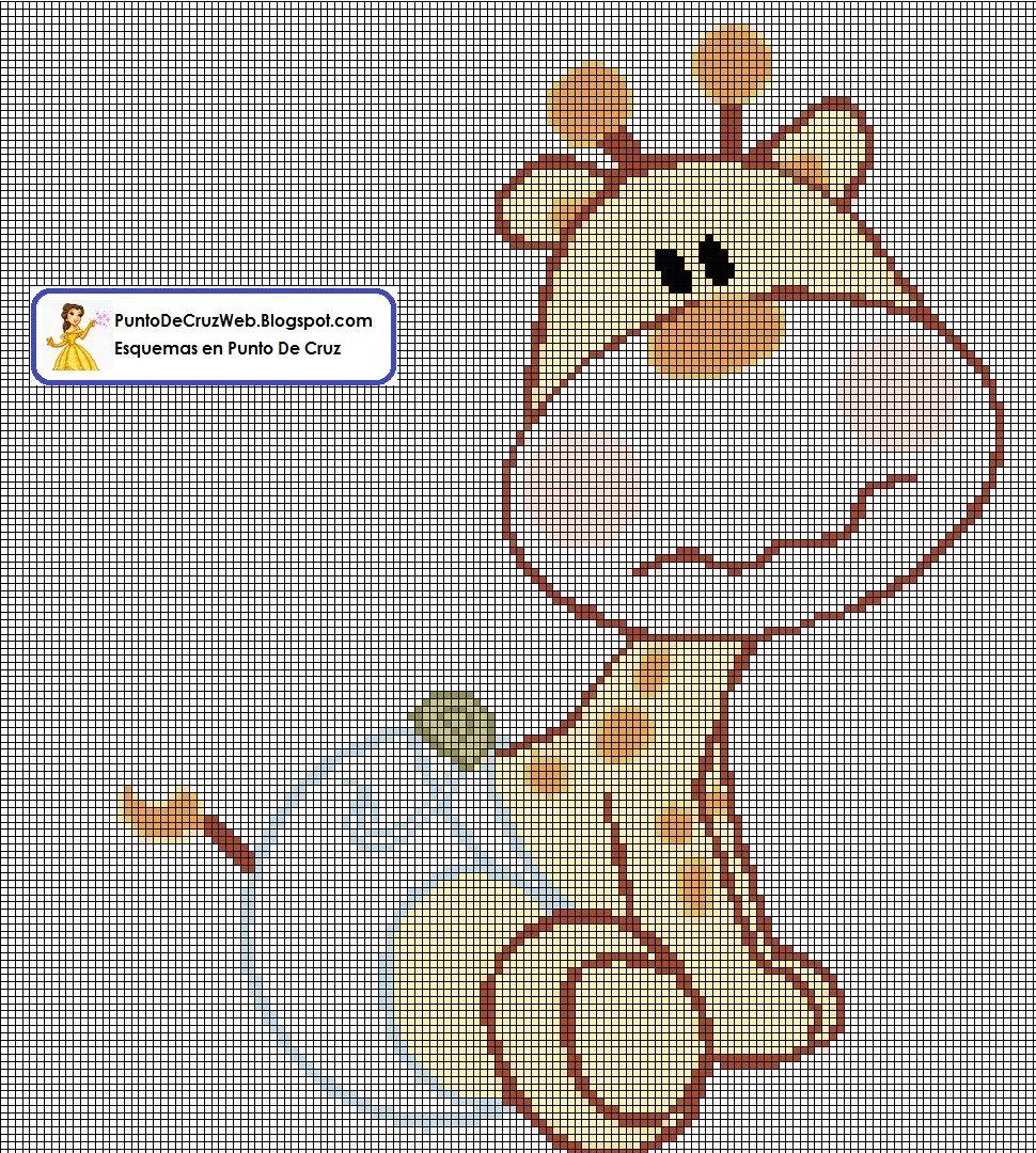 bebe jirafa punto de cruz  Patrones y Esquemas En Punto De Cruz