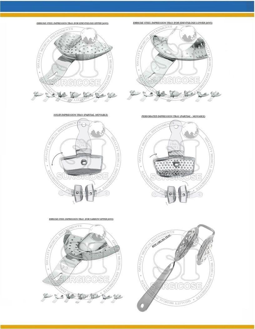 49. OU1 OU2 OU3 EHRICKE STEEL IMPRESSION TRAYS FOR EDENTULOUS UPPER ...