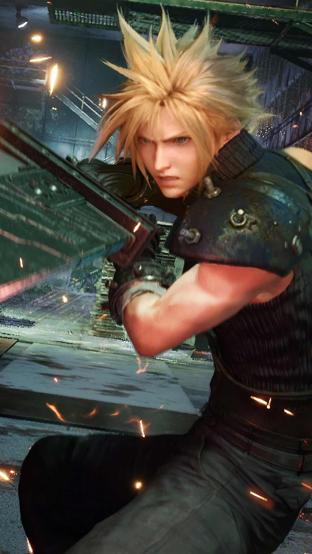 Final Fantasy 7 Remake Wallpaper Hd Phone Backgrounds Ps4 Game Art Poster Logo On Iphone Andro Final Fantasy Vii Cloud Final Fantasy Final Fantasy Cloud Strife