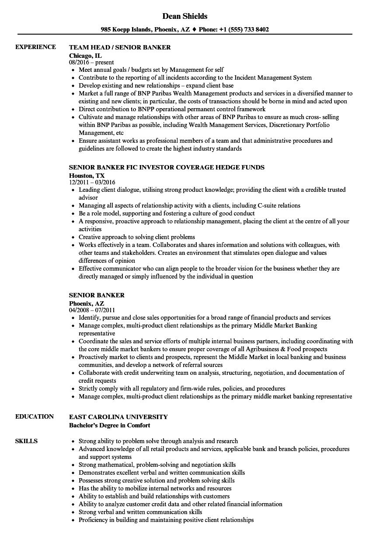 Banker Resume in 2020 Architect resume sample, Resume