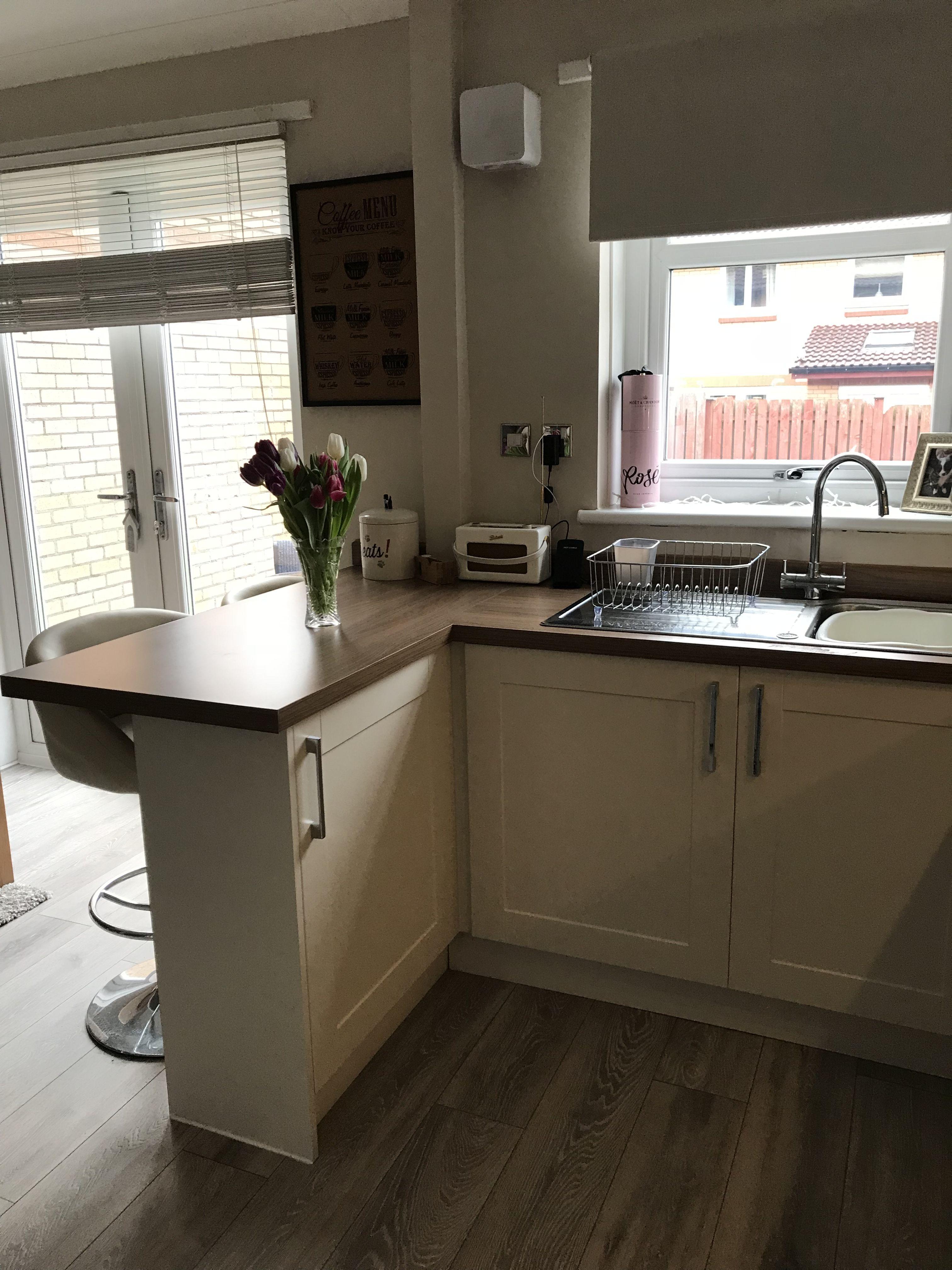 Breakfast bar in my new kitchen Kitchen remodel small