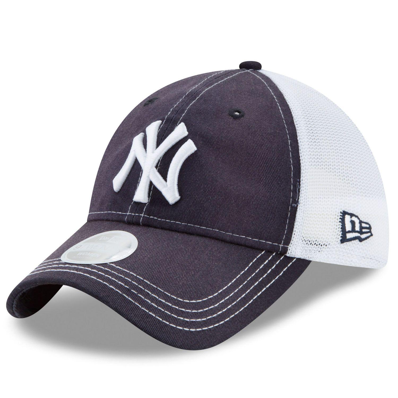 the latest 339f7 857dd ... wholesale new york yankees new era womens spirited 9twenty adjustable  hat navy white 5de00 e04d2
