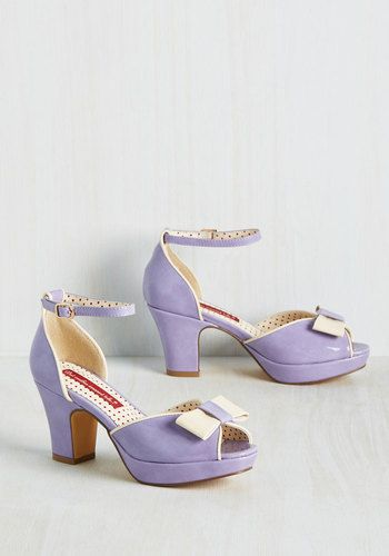Bowed and Boating Heel in Lavender, @ModCloth