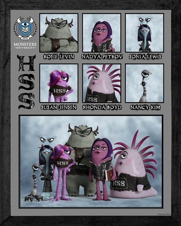 Eta Hiss Hiss Monster University Monsters Inc University Disney Monsters