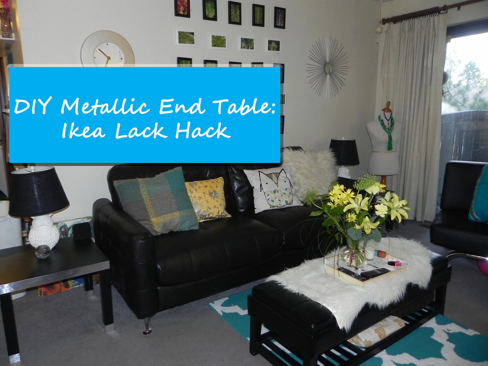 Smart N Snazzy: DIY Metallic End Table ~ Ikea Lack Hack