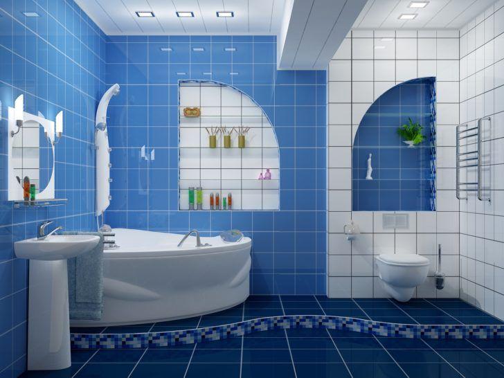 Bathroom Blue And White Bathroom Ideas That Looks Modern Nice Modern Blue And White Bathroom Tiles Ideas And Nice Decor Mebel