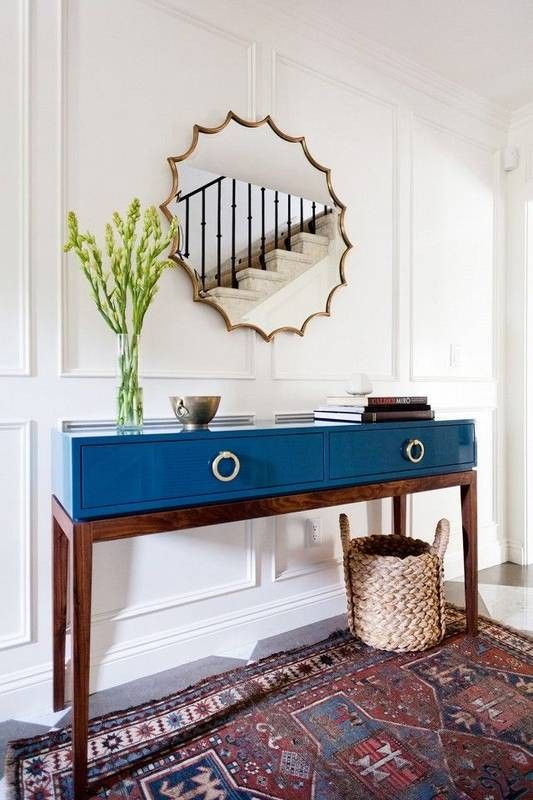 Great Blue Lacquer Console Table