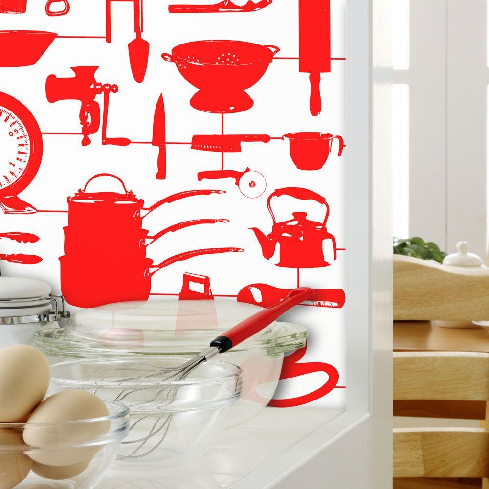 Wszystko Ma Swoje Miejsce Kitchen Wallpaper Kitchen Wallpaper Red Blue Kitchen Wallpaper