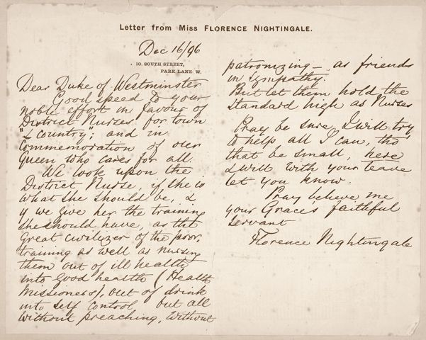 Bbc  Florence Nightingale  First Class   Letter Writing