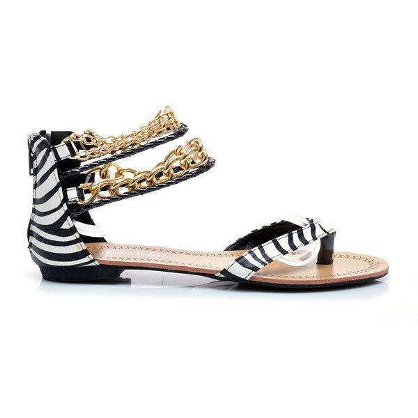 Sandaly Japonki Z Lancuszkami L796ze S1 115p Motywy Zwierzece Czasnabuty Pl Buty I Torebki Shoes Sandals Fashion