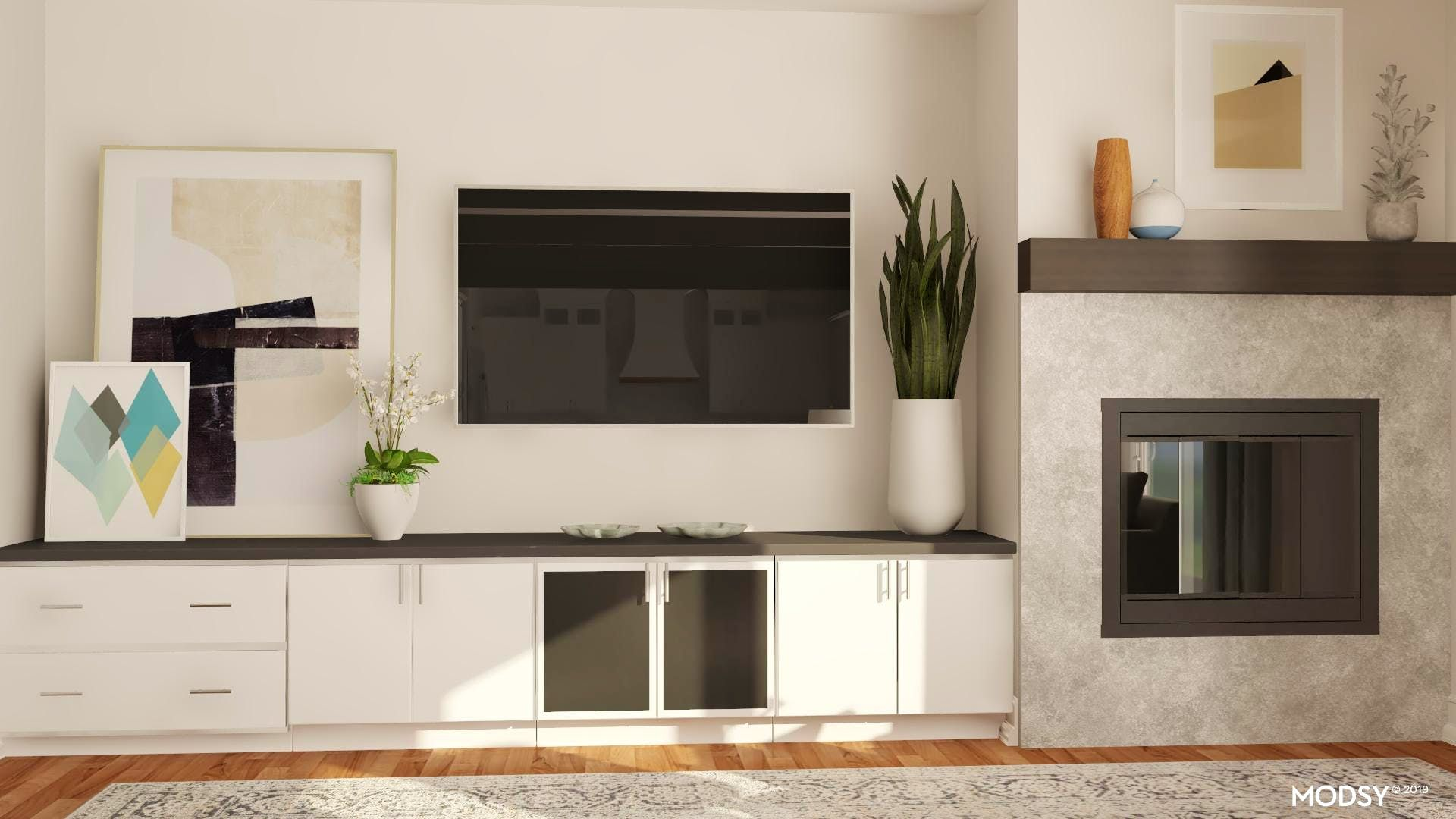 It's All About Symmetry: TV wall ideas in 2020 | Contemporary ...
