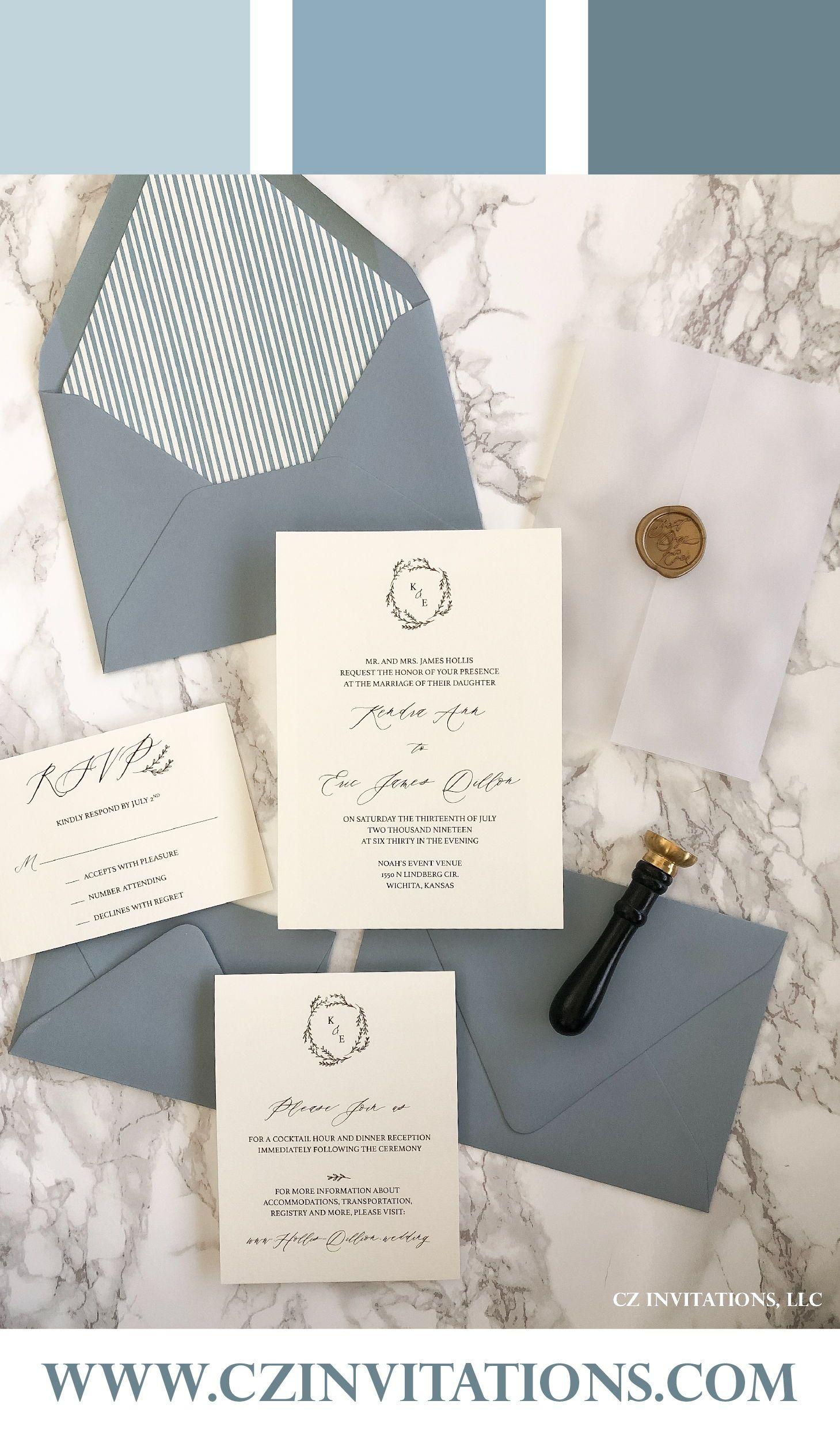 Dusty Blue Vellum Wedding Invitation Vellum Wedding Etsy In 2020 Dusty Blue Weddings Wedding Invitations Glitter Invitations