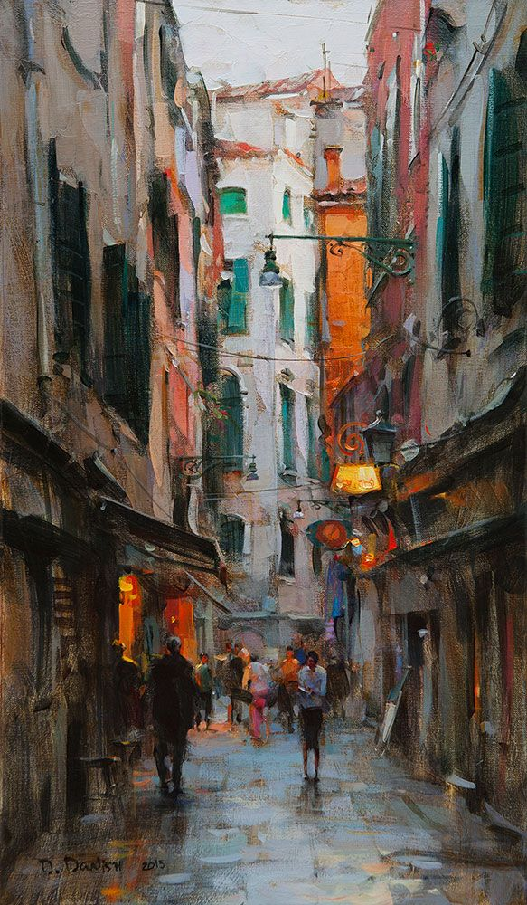 Ukrainian artist Dmitri Danish - Early Twilight, Venice ...