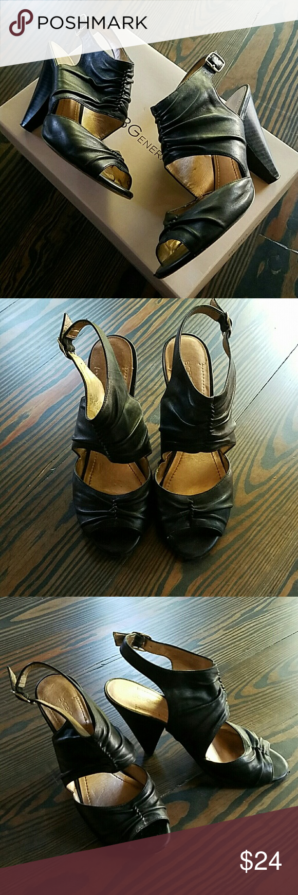 BCBGENERATION heels Soft leather... these are unexpected and fun! BCBGeneration Shoes Heels