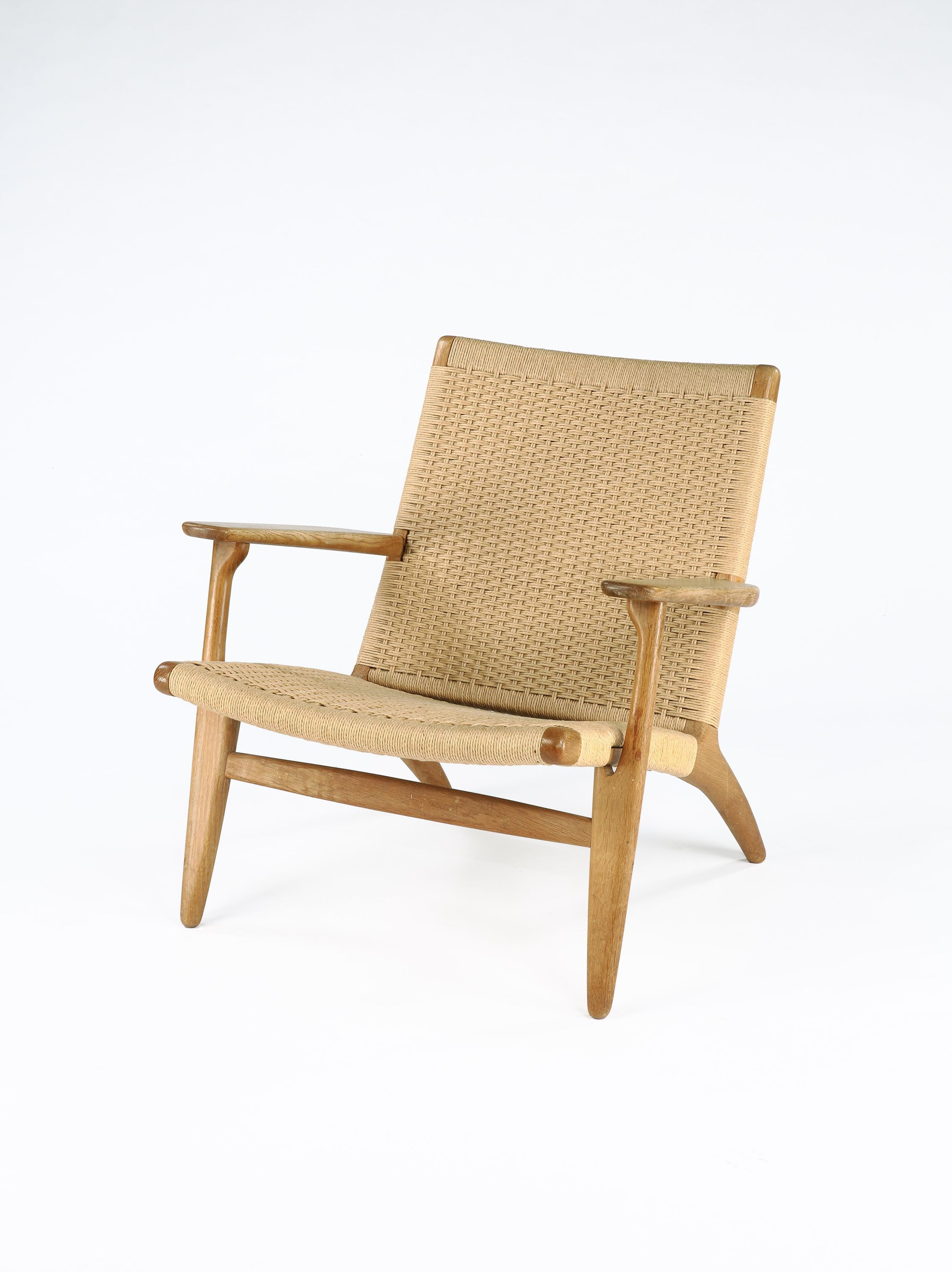 Original Ch 25 Oak Armchair By Hans Wegner - Rose