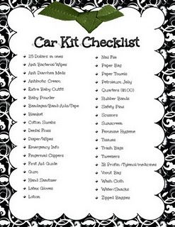 Car Emergency Kit Checklist Emergency Food Home Pinterest