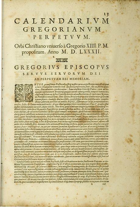 Calendarium Gregorianum
