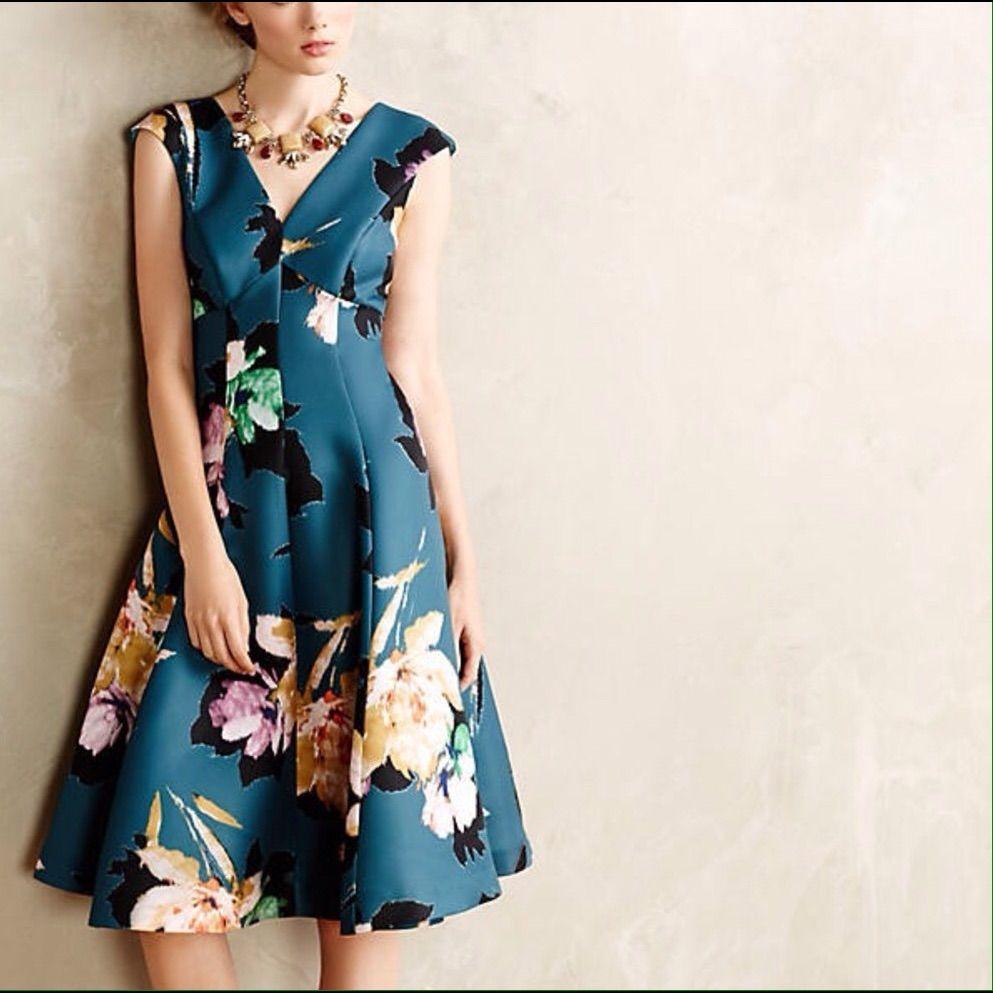 Anthro Baikal Moulinette Souers Floral Dress