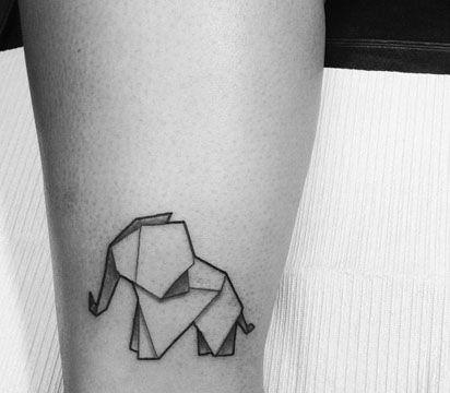 Tatuajes De Animales Geometricos Con Triangulos Lineales Tatuajes