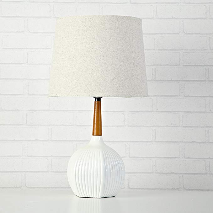 Amazon Com Urban Shop 784857730432 Rubber Wood Table Lamp 20 47 X 9 84 X 4 72 White Kitchen Dining Table Lamp Wood Wooden Lamp Urban Shop