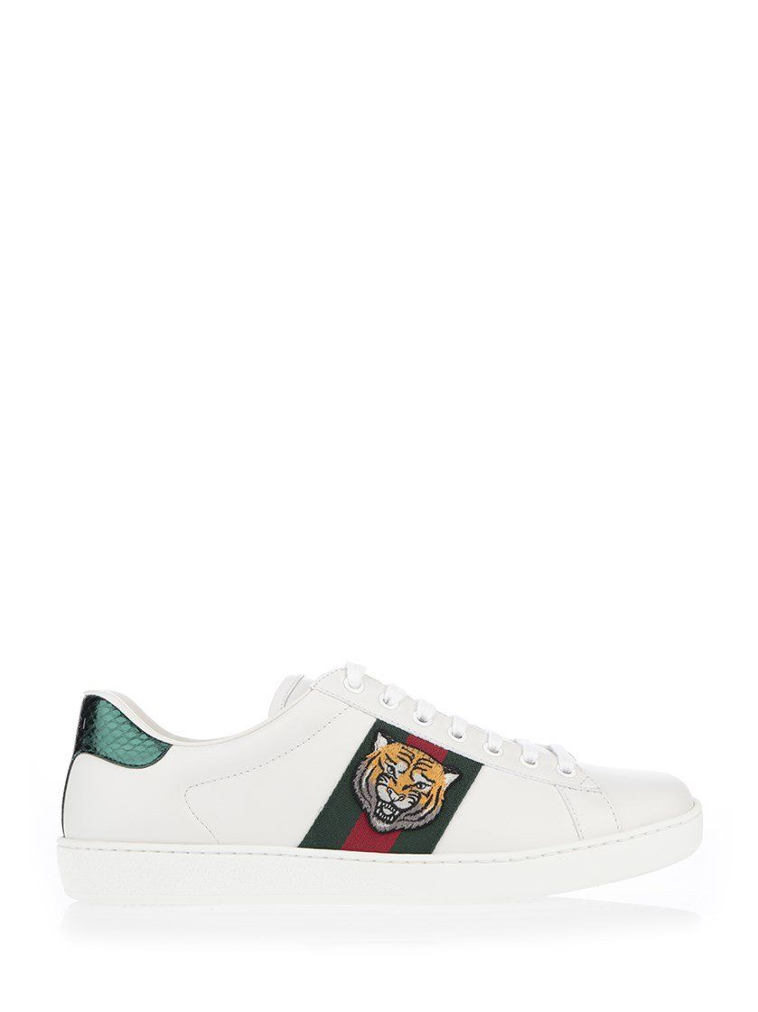 ... GUCCI GUCCI ACE TIGER EMBROIDERED ... 4033d570299