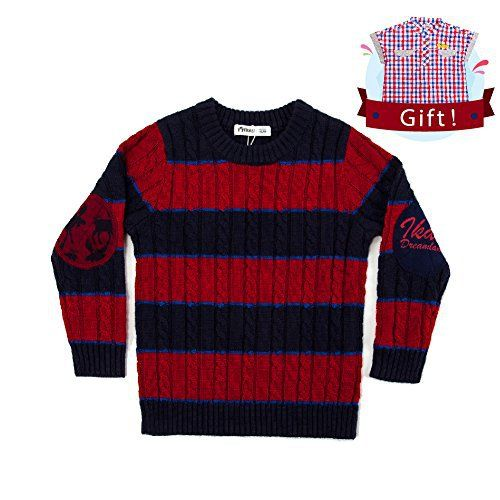 ec58f9fc5754 Product review for IKALI Kids Wool Sweater Baby Toddler Boy Fleece ...