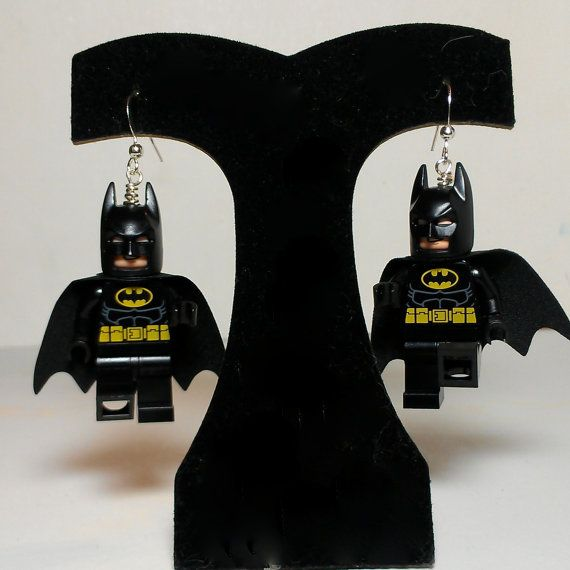 LEGO Batman Earrings with CAPE by ValGlaser on Etsy, $25 ...
