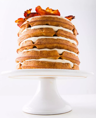 Beer, bacon, waffle cake! Perfect for Father's Day!