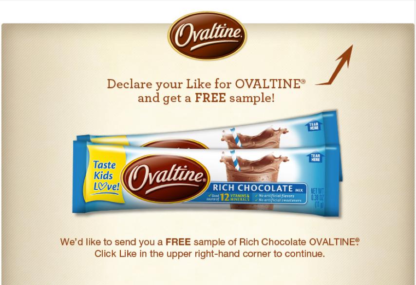 Free Sample of Ovaltine Stick Packs!