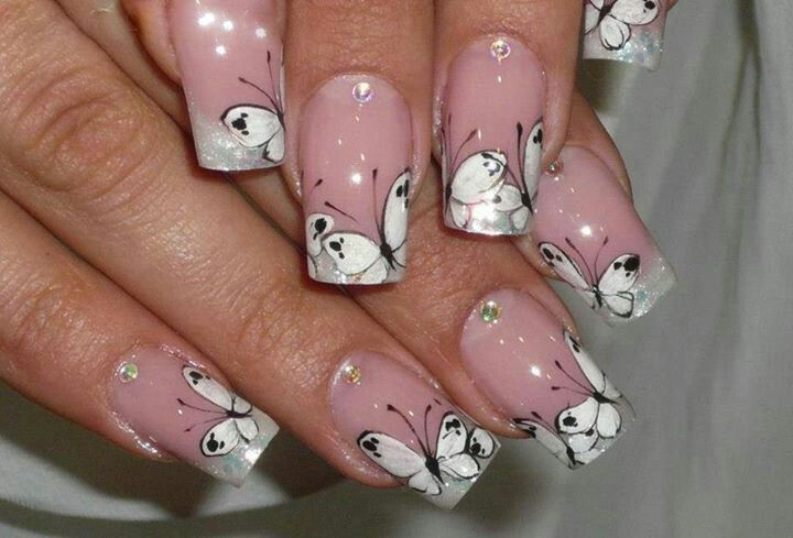Mariposas Uñas Nail Designs Nails Y Nail Art