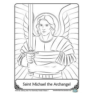 st michael coloring page - st michael the archangel catholic saint coloring pages