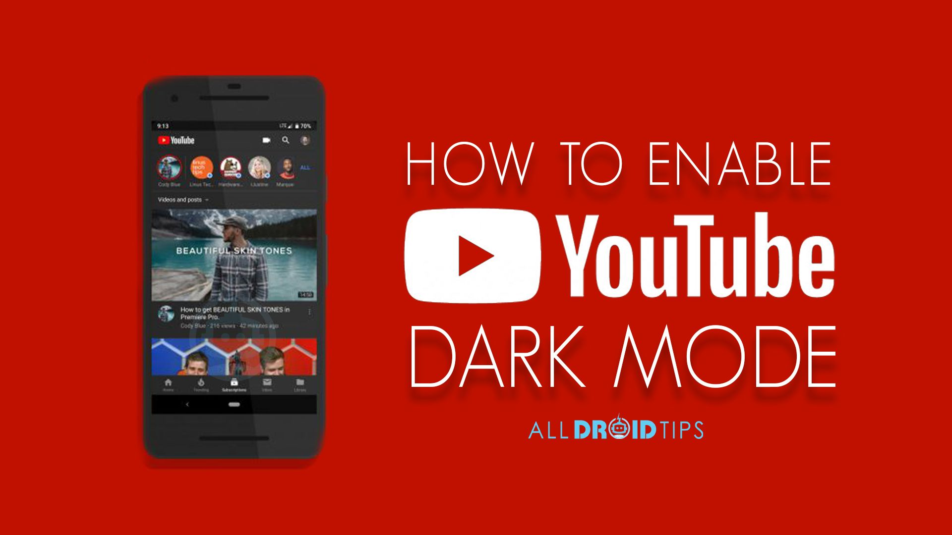 Android users can now use YouTube's 'dark mode' theme on