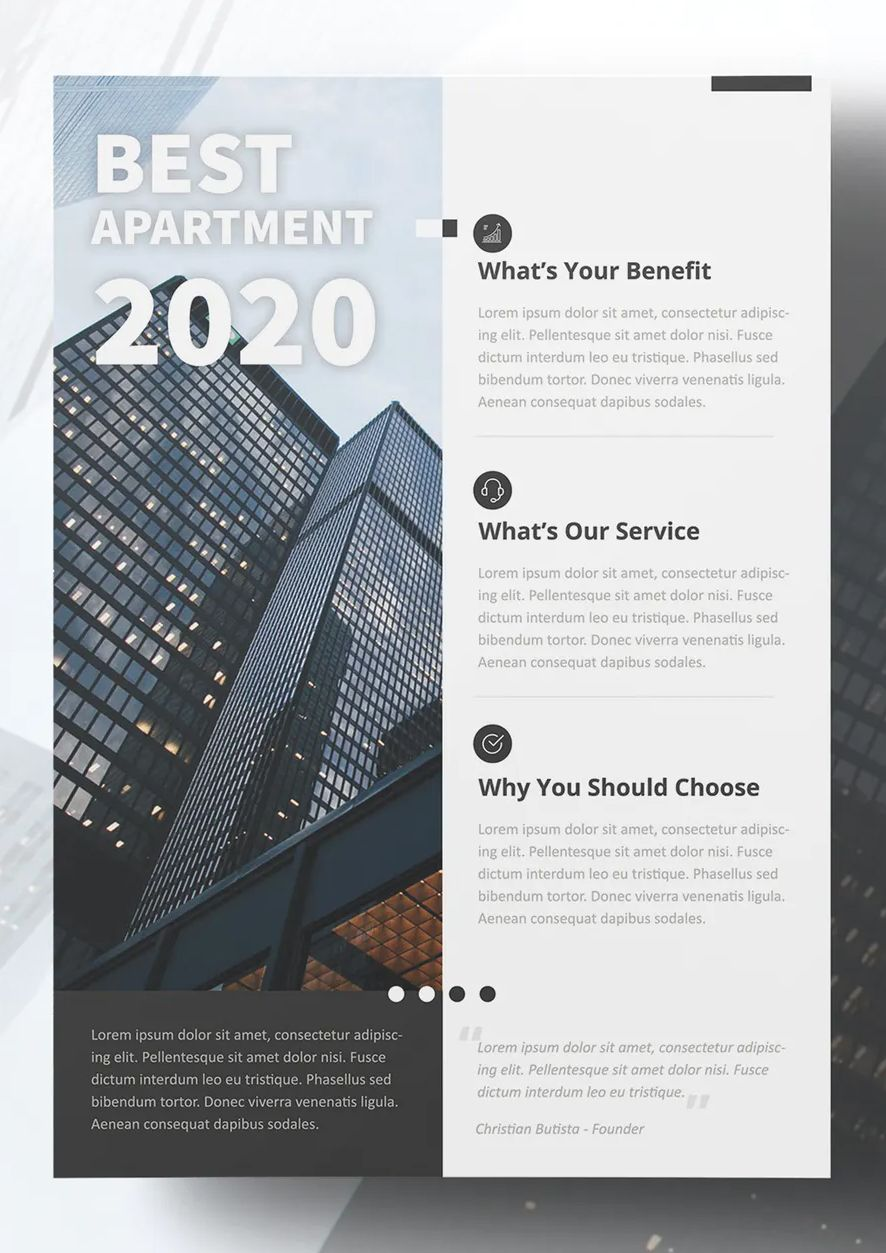 Apartment Business Flyer Design Business Flyer Flyer Design Templates Flyer