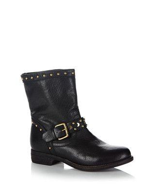 8ea49a47baf Rocker black leather ankle boots Sale - Dune Sale | Boots | Boots ...