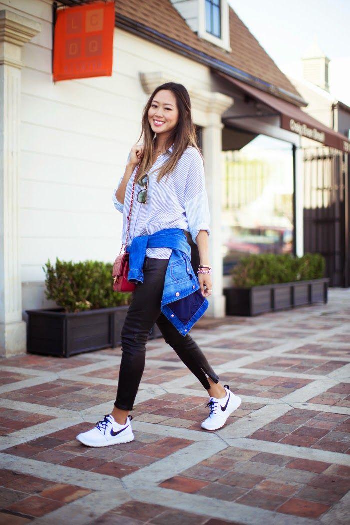 Blanc Nike Tenues Roshe